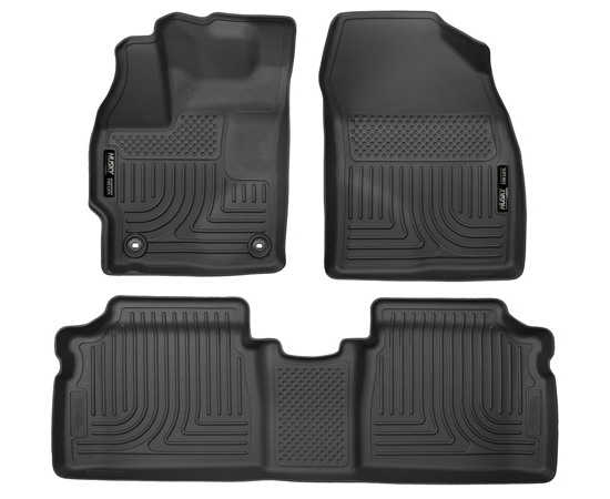 Husky Floor Liners Front & 2nd Row 2015 Toyota Prius WeatherBeater-Black
