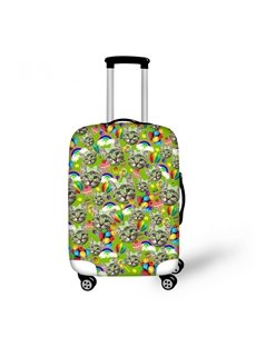 Colorful Cats Faces Pattern 3D Painted Luggage Protect Cover