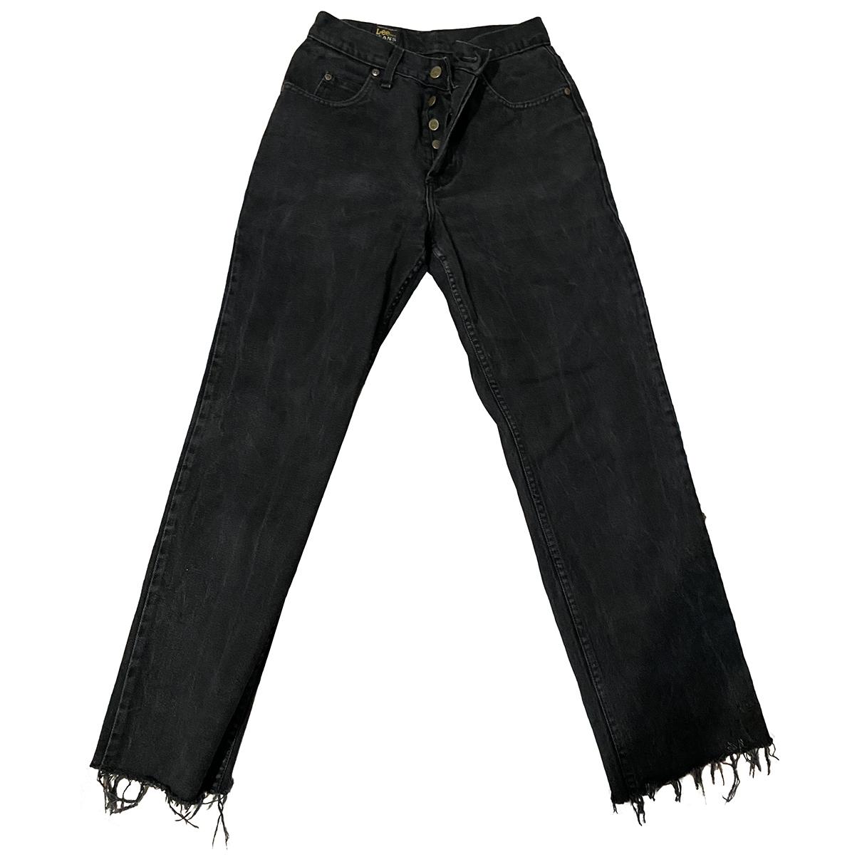 Lee \N Black Denim - Jeans Jeans for Women 32 US