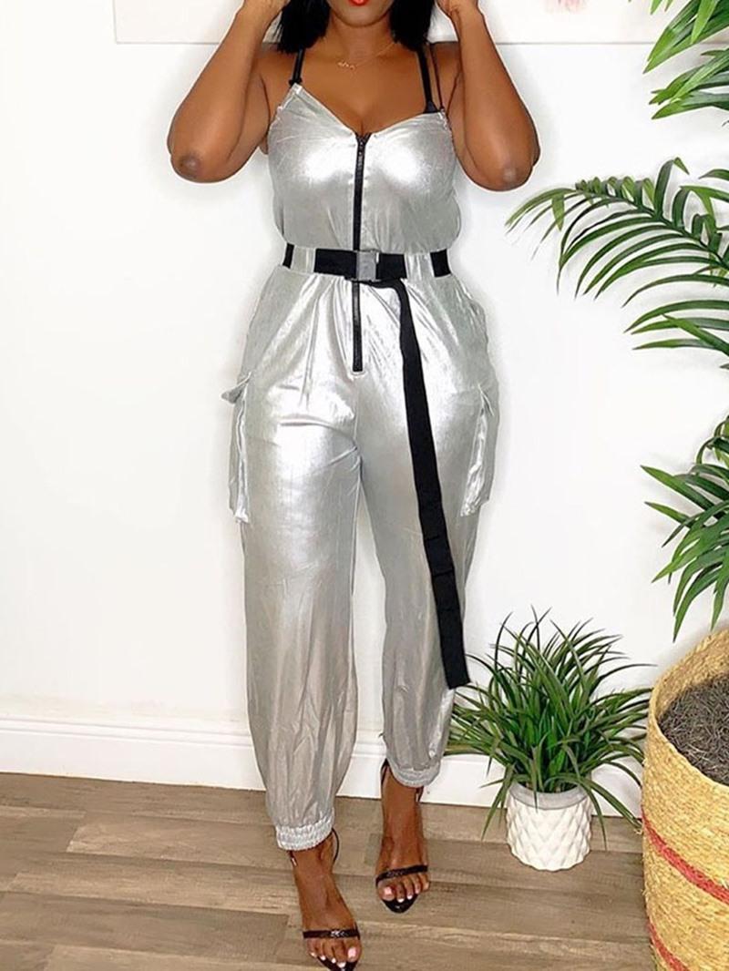 Ericdress Zipper Full Length Western Loose Women's Jumpsuit