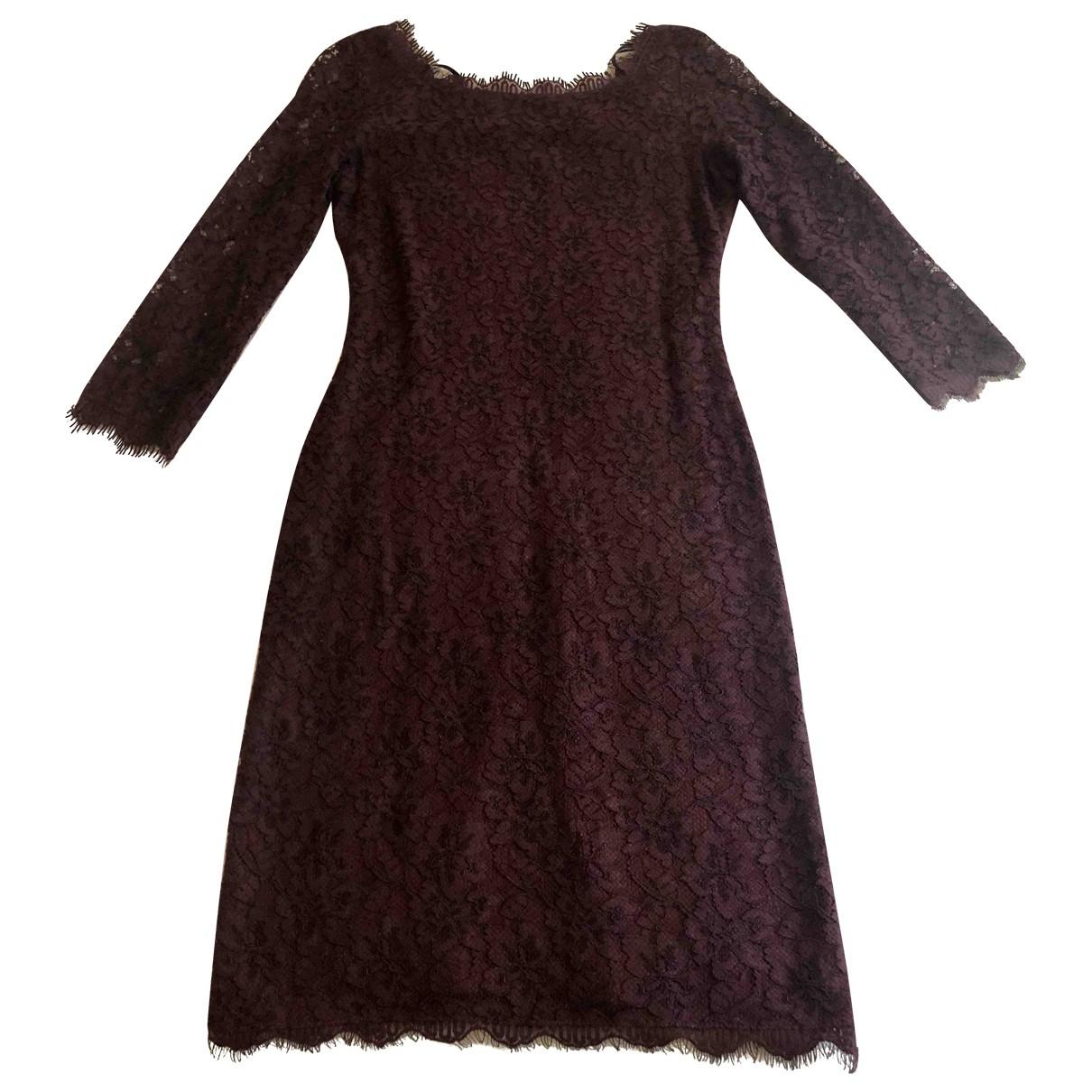 Diane Von Furstenberg \N Kleid in  Bordeauxrot Spitze