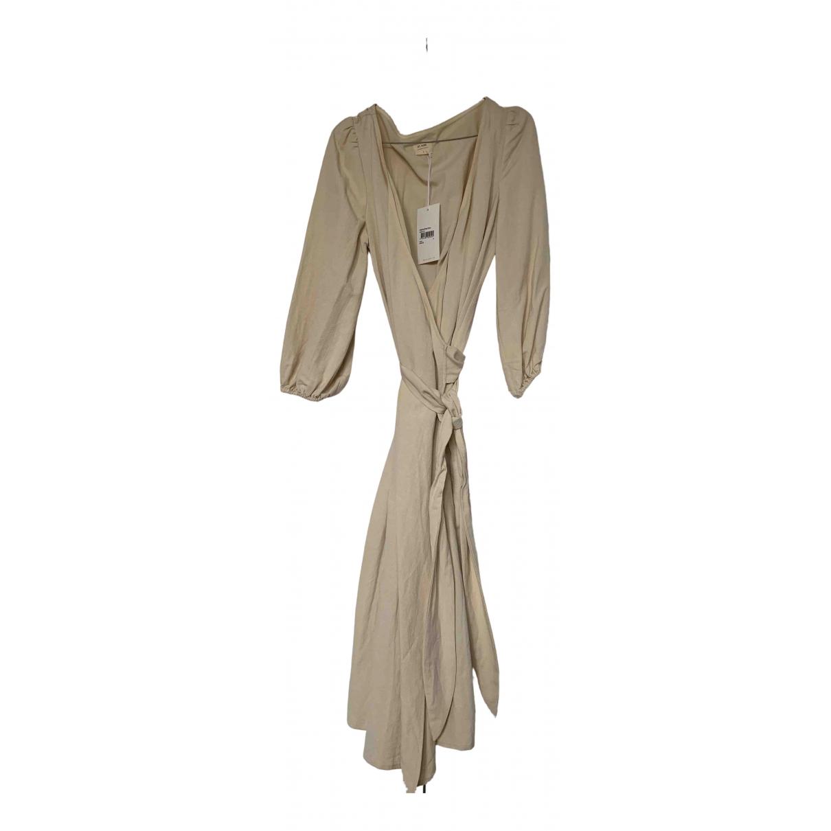 St Agni \N Kleid in  Ecru Leinen