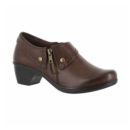 Easy Street Womens Darcy Slip-On Shoe, 8 Medium, Brown