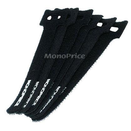 Monoprice® Hook & Loop Fastening Cable Ties 6-inch, 50pcs/pack, Black