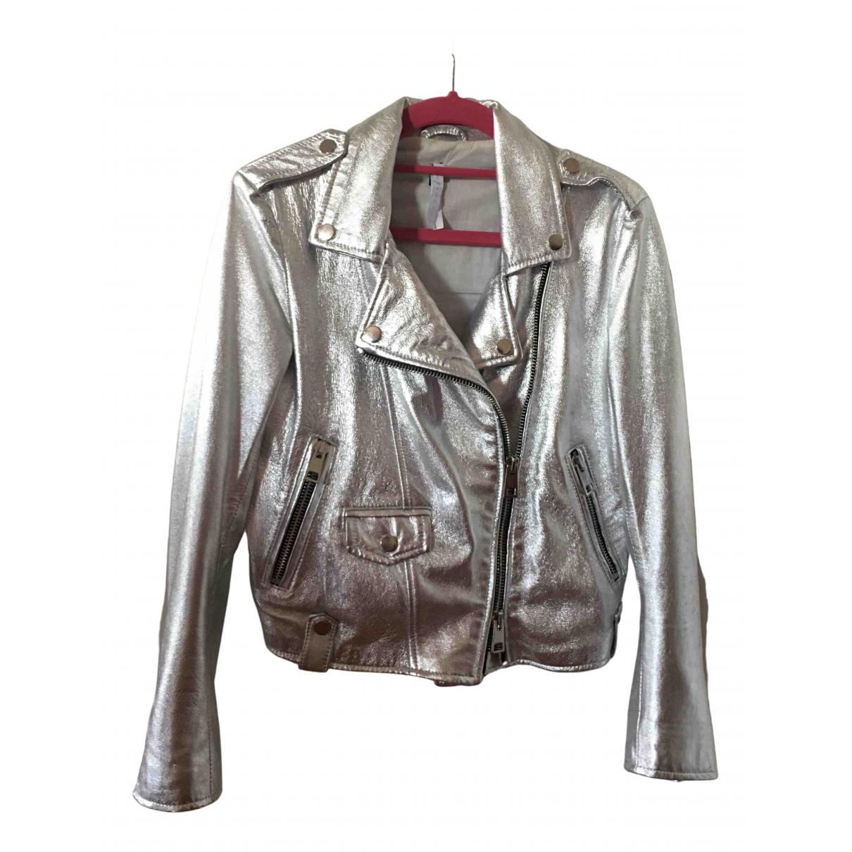 Imperial \N Lederjacke in  Silber Leder