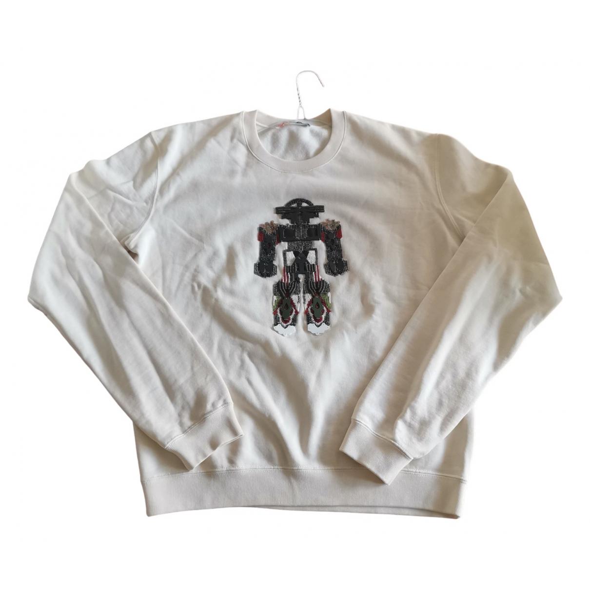 Msgm - Pull   pour femme en coton - blanc