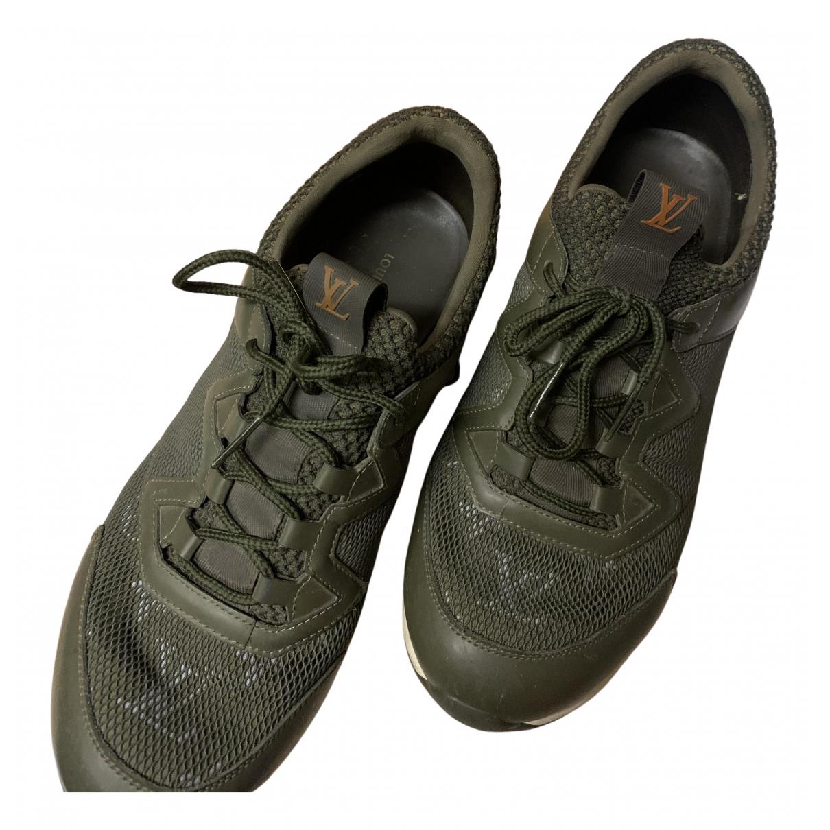Louis Vuitton Run Away Khaki Leather Trainers for Women 40 EU