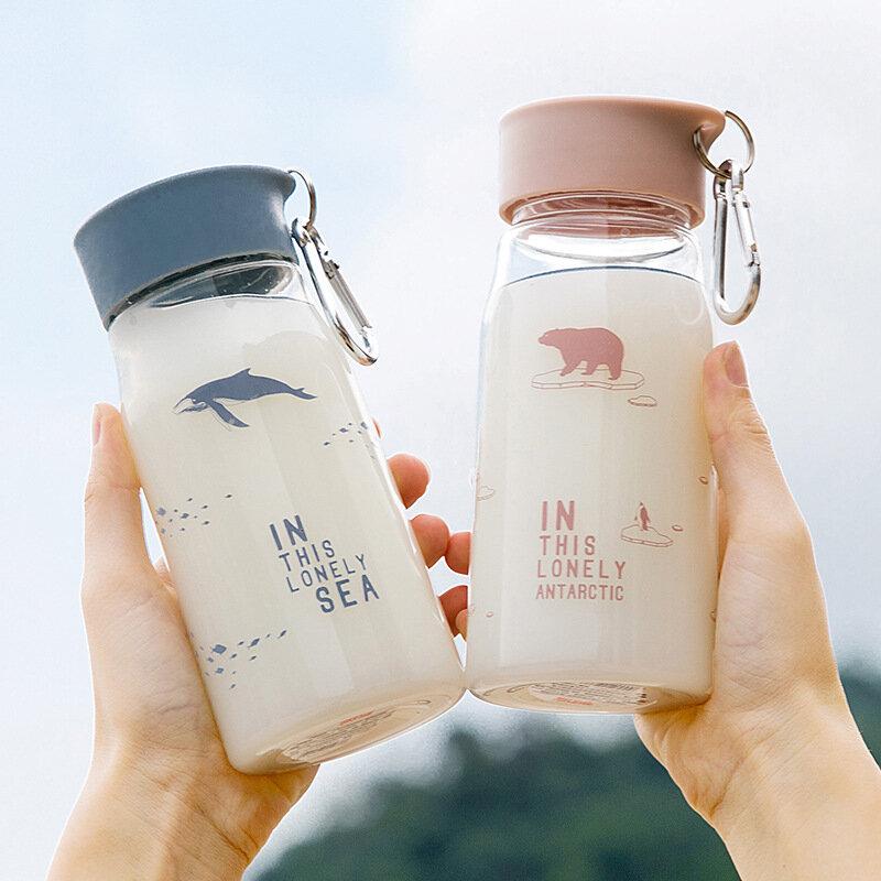 Plastic Cartoon Cup Animals Pattern Portable Mug Water Milk Coffee Bottle Best Gift