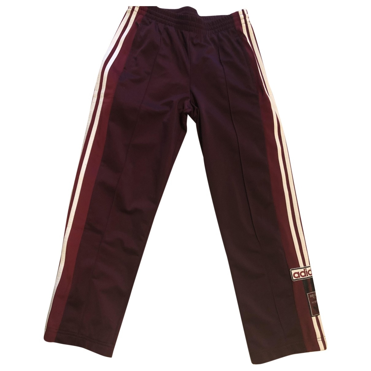 Adidas \N Burgundy Trousers for Women 42 IT