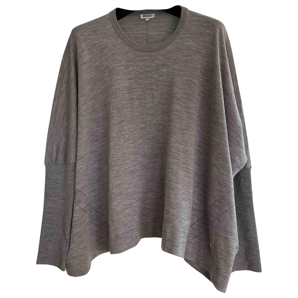Kenzo - Pull   pour femme en laine - gris