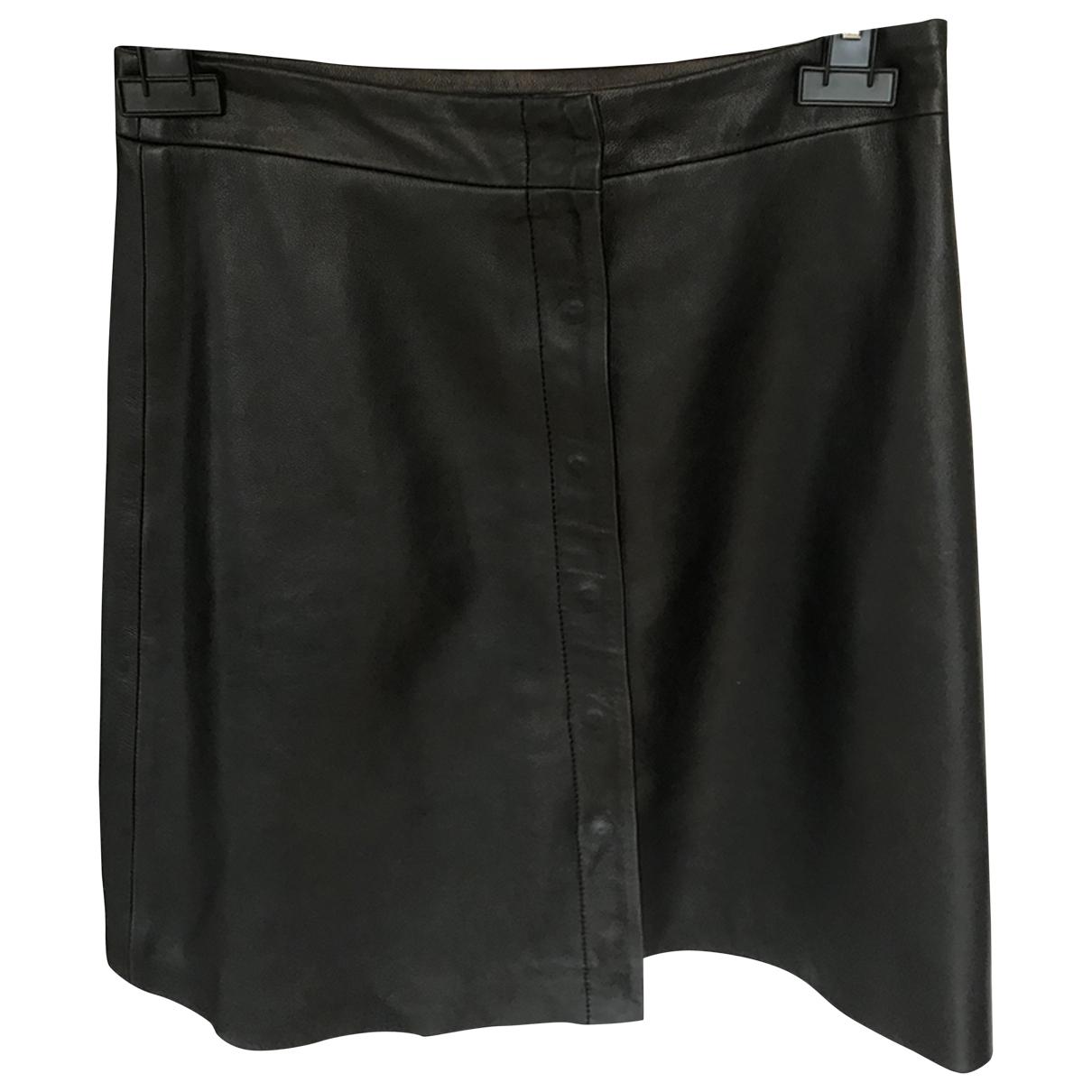 All Saints - Robe   pour femme en cuir - noir