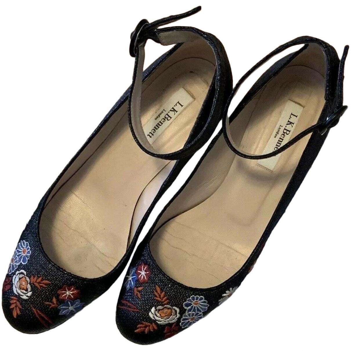Lk Bennett \N Black Cloth Heels for Women 5 UK