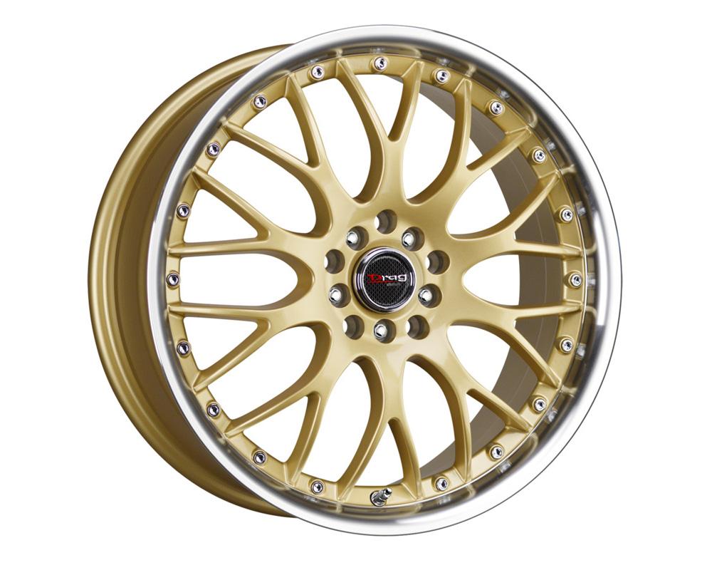 Drag DR-19 Gold Machined Lip 17x7.5 5x100/114.3 45mm