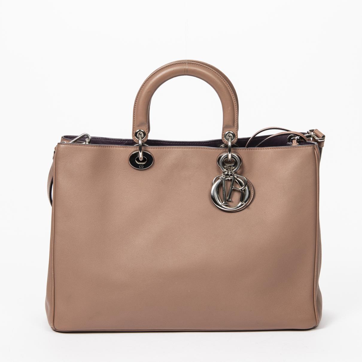 Dior \N Handtasche in  Beige Leder