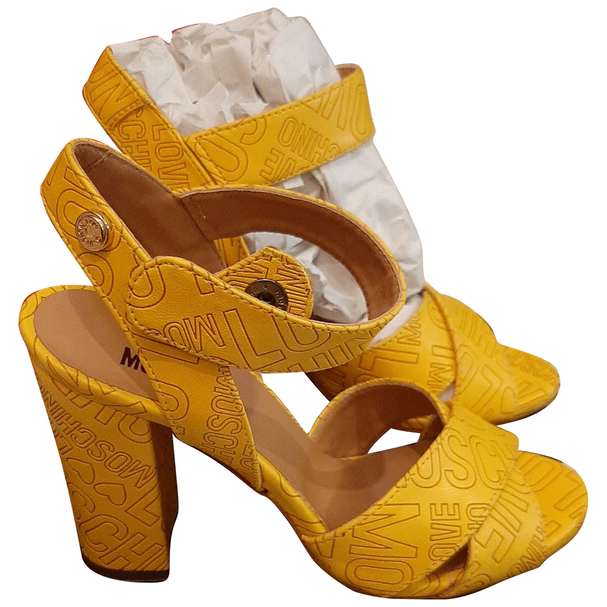 Moschino Love - Sandales   pour femme - jaune