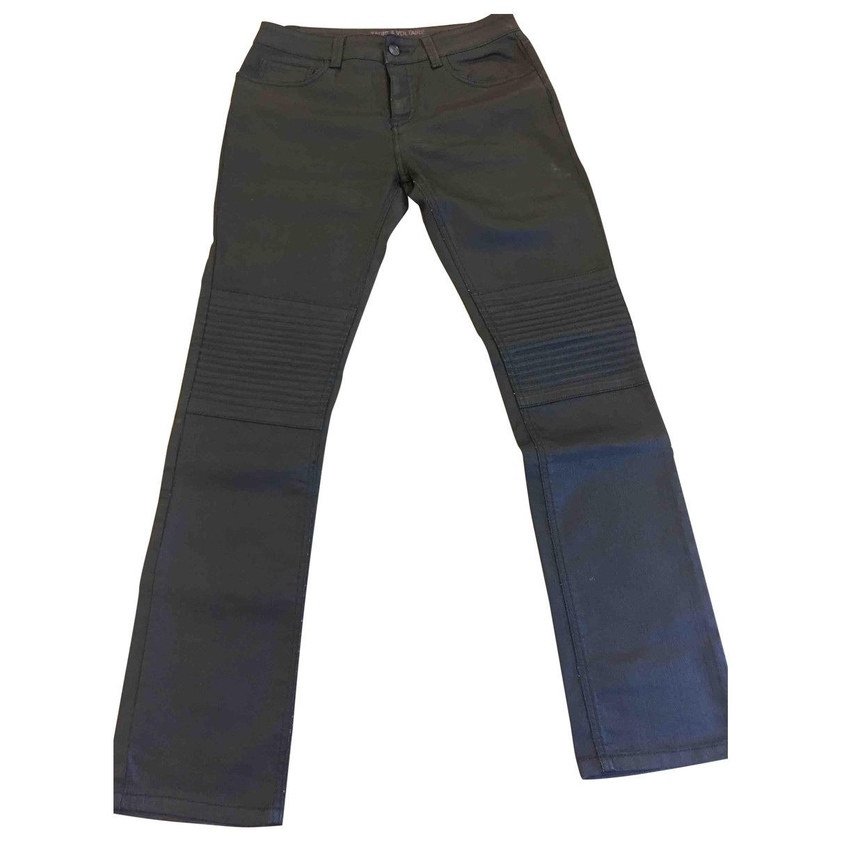 Zadig & Voltaire \N Black Cotton - elasthane Jeans for Men 30 US