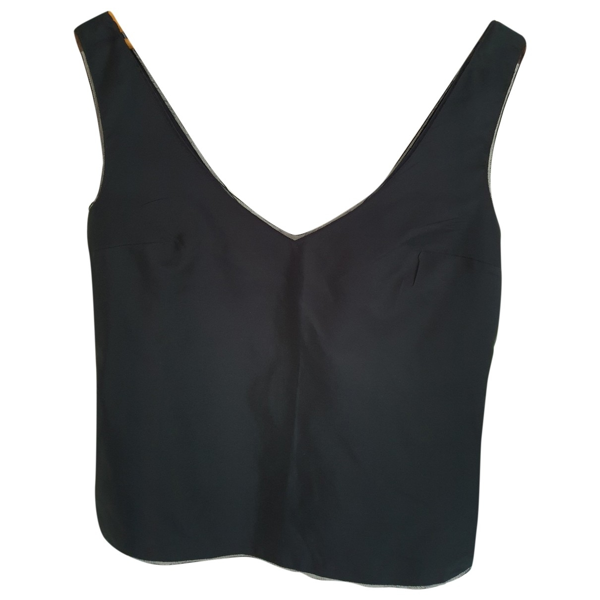 Prada - Top   pour femme en soie - marine