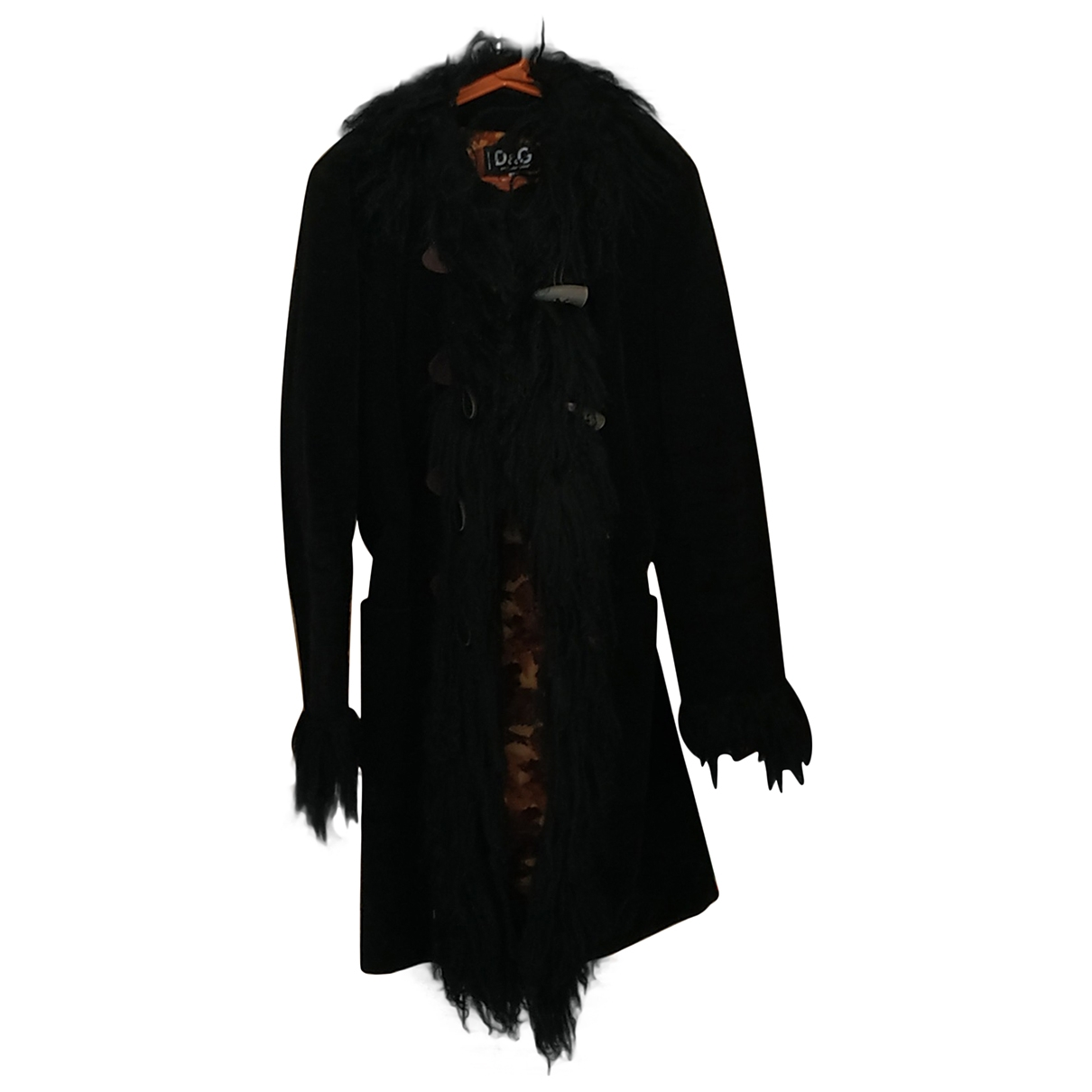 D&g \N Black Velvet coat for Women 42 IT