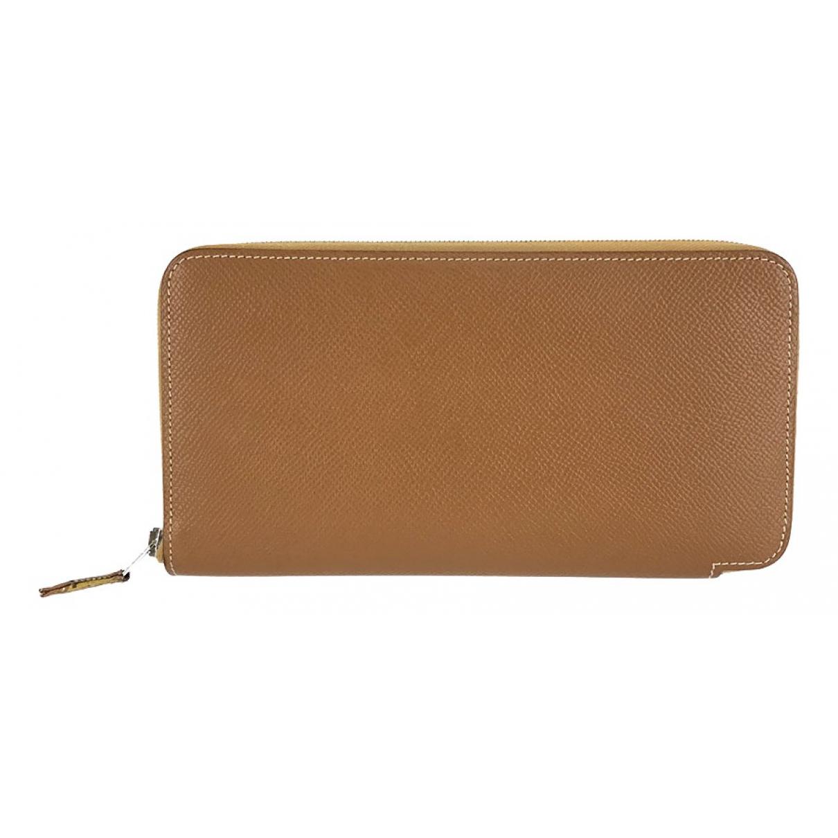 Hermès Azap Brown Leather wallet for Women \N
