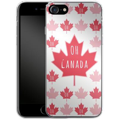 Apple iPhone 8 Silikon Handyhuelle - Oh Canada von caseable Designs