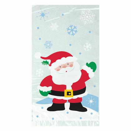 Santa Cellophane Bags, 9 x 5 in, 20ct