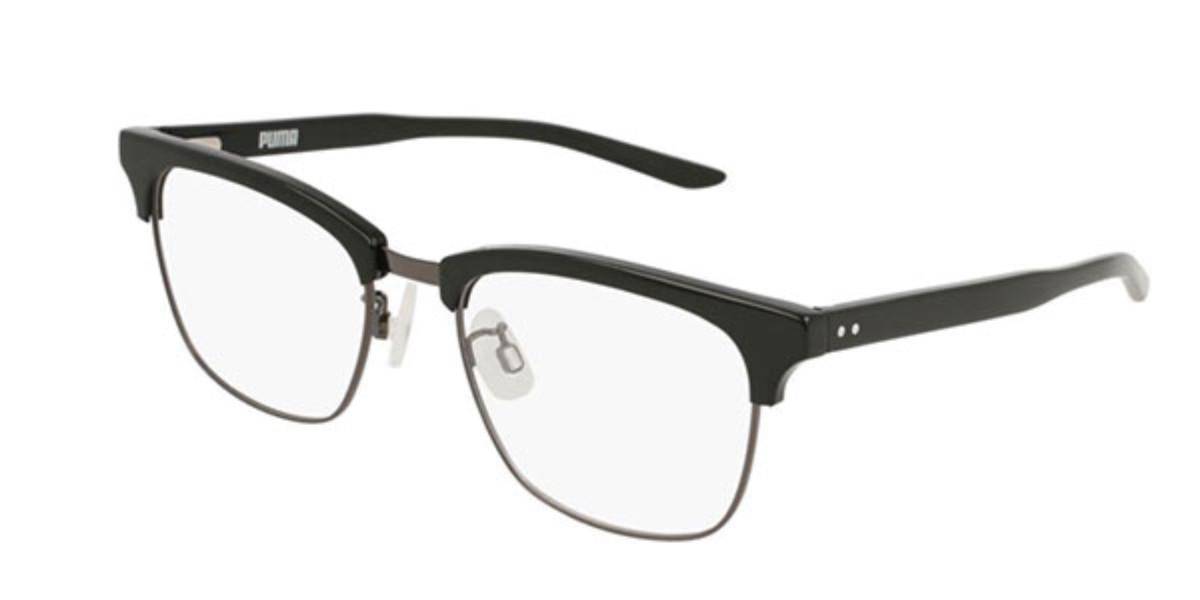 Puma PU0172O 001 Men's Glasses Black Size 54 - Free Lenses - HSA/FSA Insurance - Blue Light Block Available