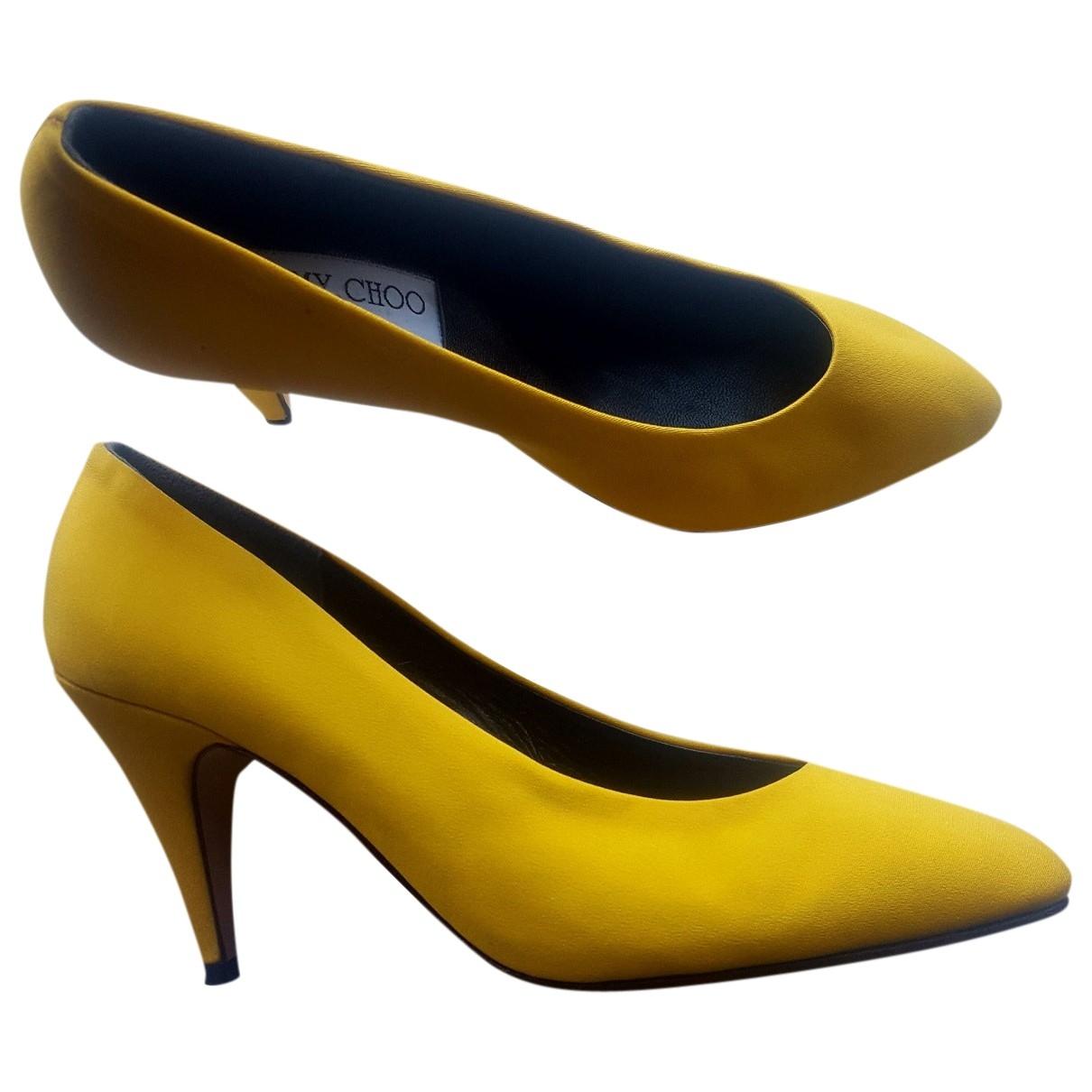 Jimmy Choo - Escarpins   pour femme en toile - jaune