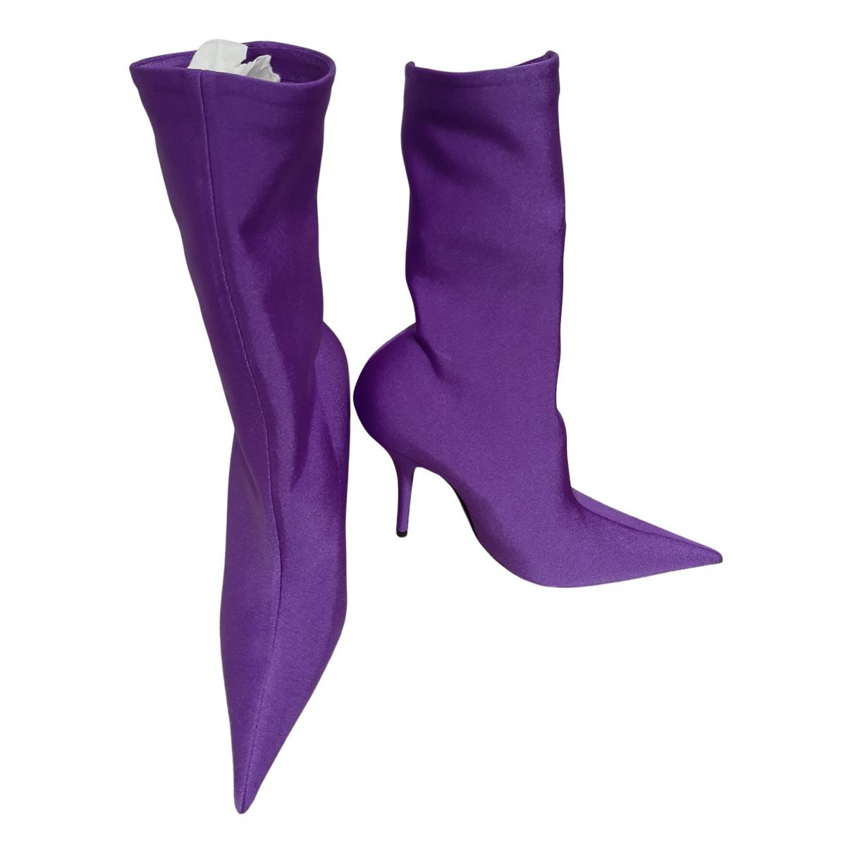 Balenciaga - Boots Knife pour femme - violet