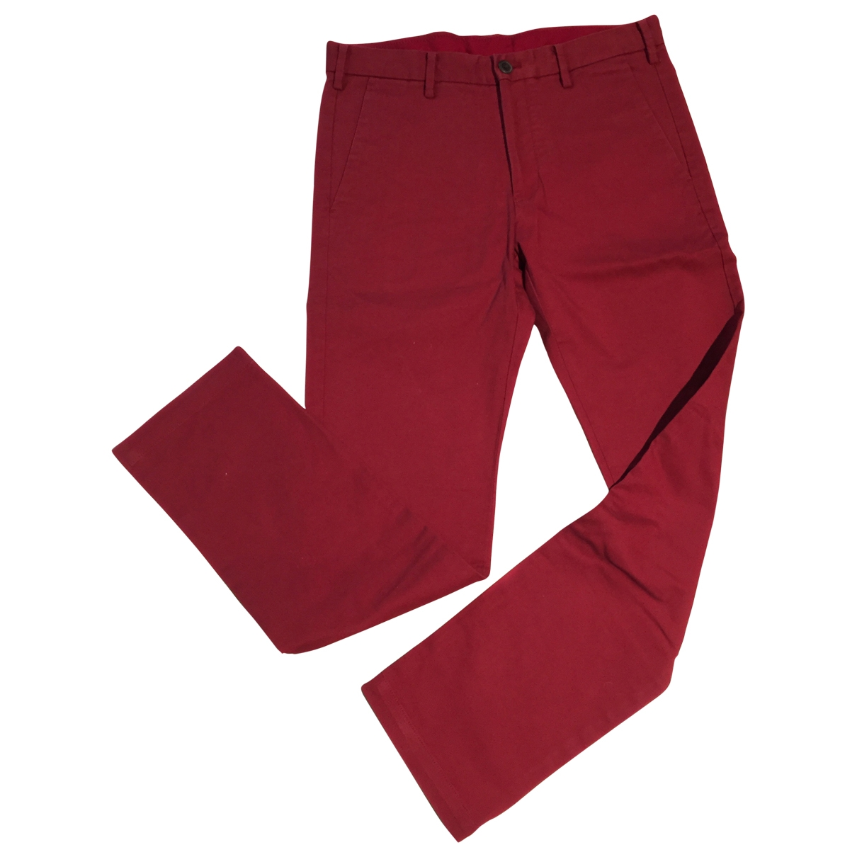 Uniqlo \N Burgundy Cotton Trousers for Men 30 UK - US