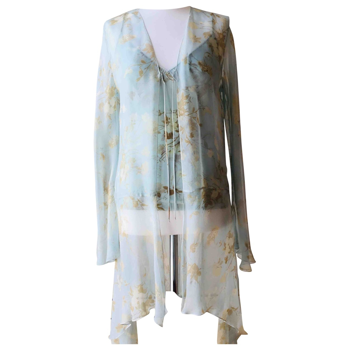La Perla \N Turquoise Silk  top for Women 46 IT