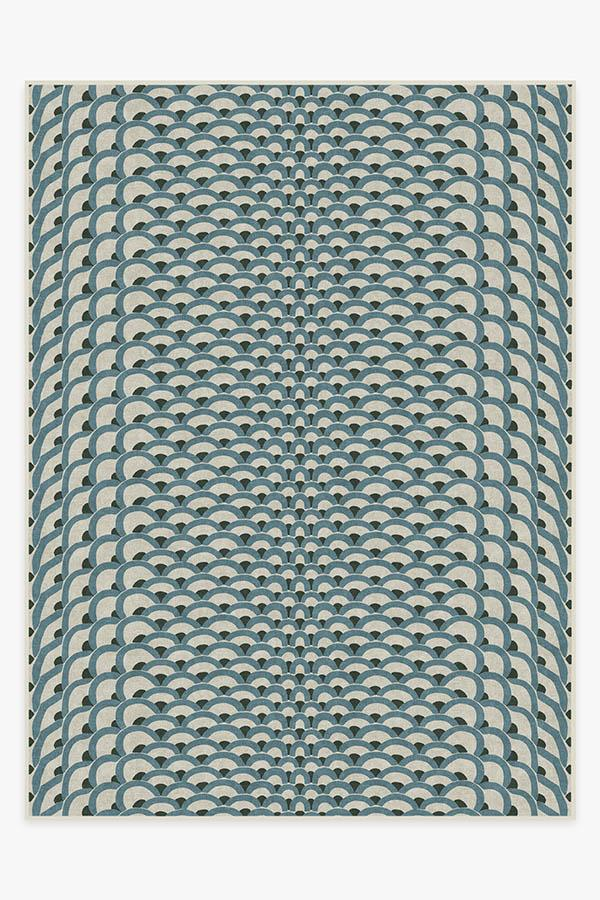 Washable Rug Cover & Pad | Cynthia Rowley Lamella Jade Rug | Stain-Resistant | Ruggable | 9'x12'