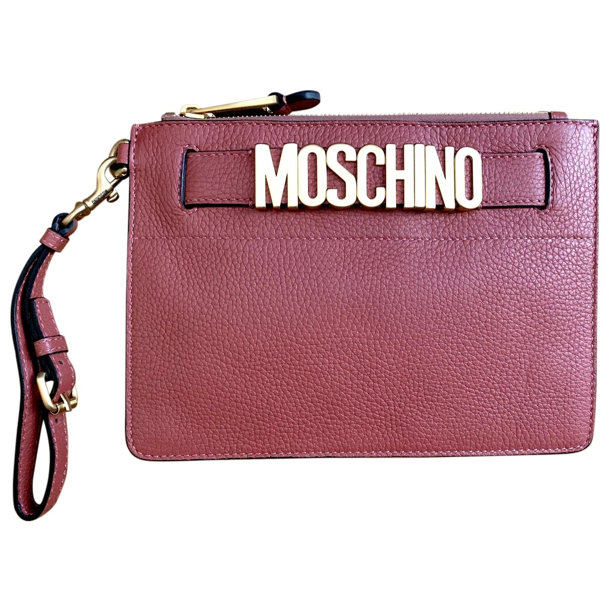 Moschino \N Pink Leather Clutch bag for Women \N