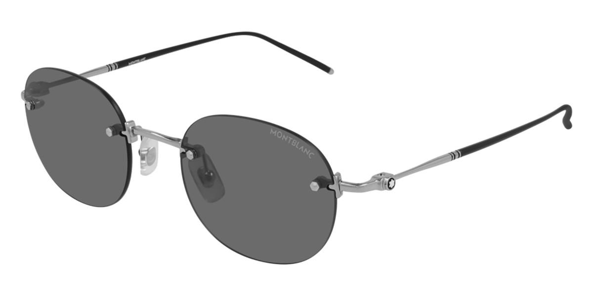 Mont Blanc MB0126S 001 Men's Sunglasses Silver Size 51