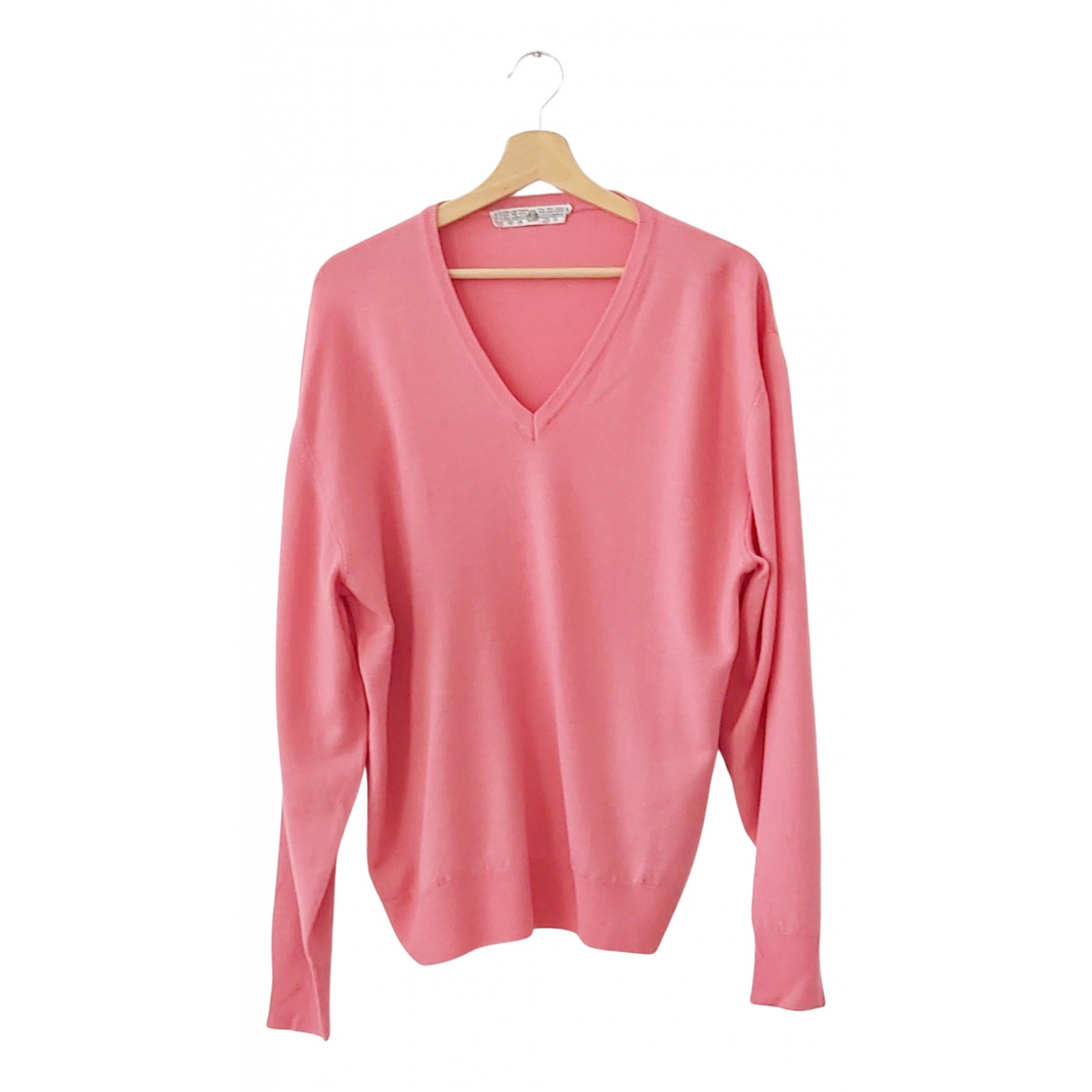 Non Signe / Unsigned Oversize Pullover.Westen.Sweatshirts  in  Rosa Kaschmir