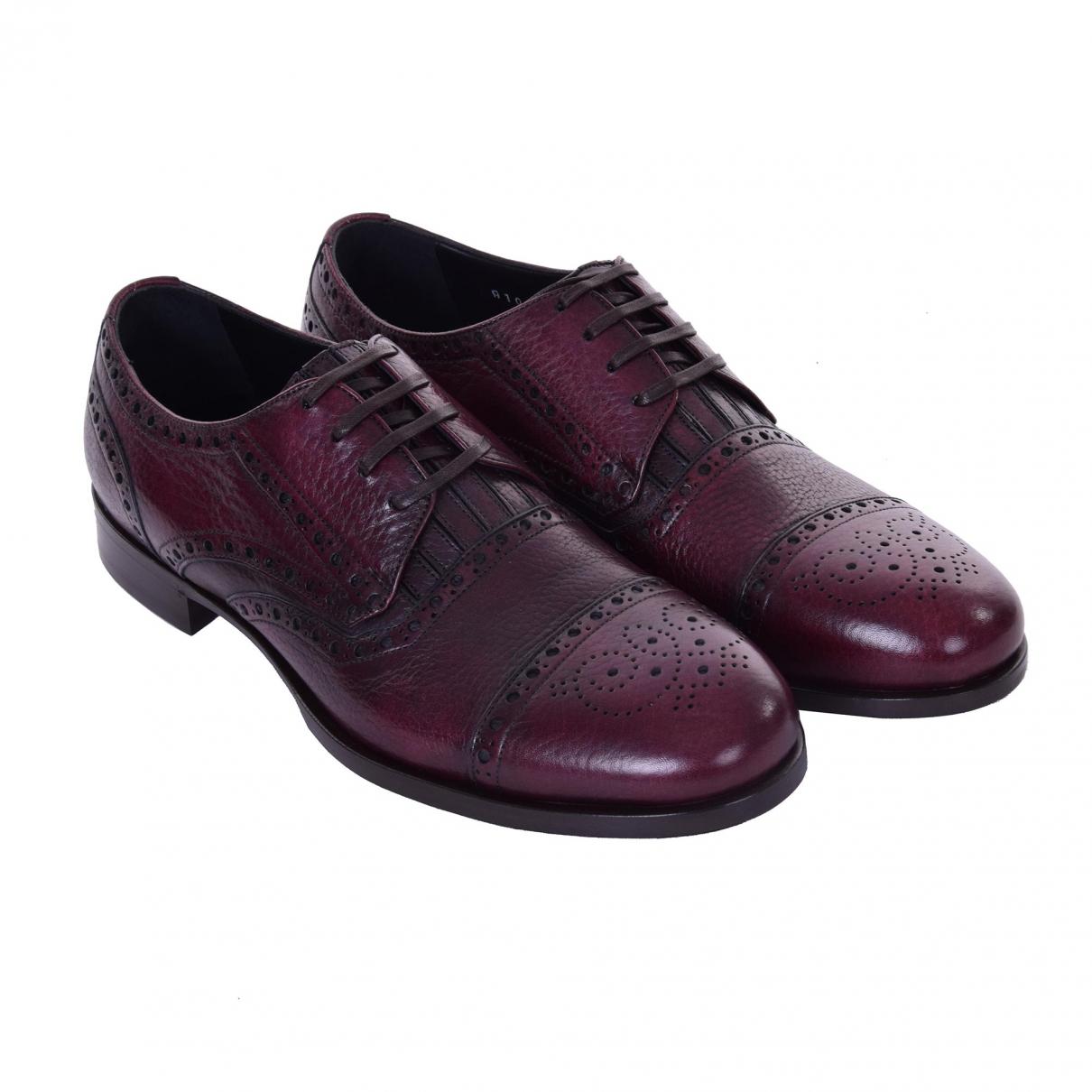 Dolce & Gabbana \N Burgundy Leather Lace ups for Men 41 EU