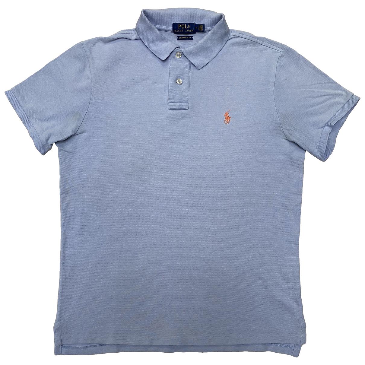Polo Ralph Lauren Polo cintré manches courtes Blue Cotton Polo shirts for Men M International