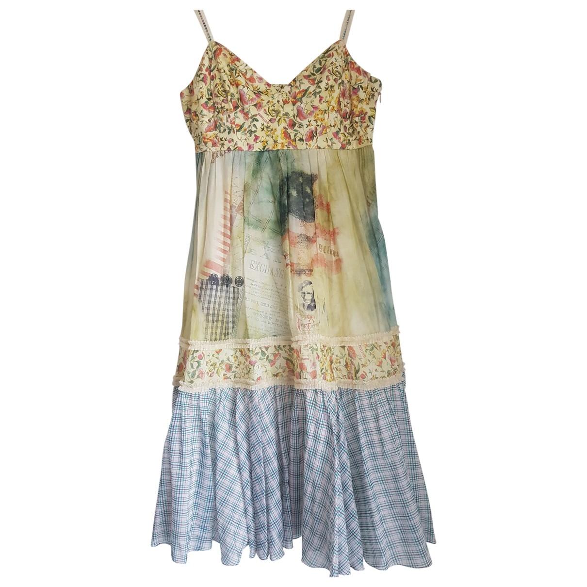 Galliano \N Kleid in  Bunt Baumwolle
