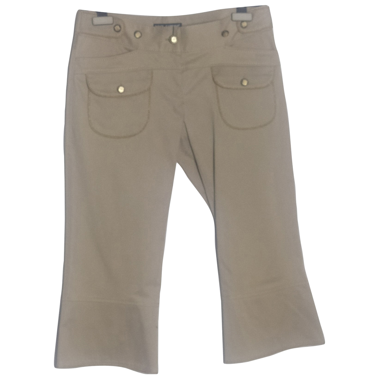 Dolce & Gabbana N Beige Cotton Trousers for Women 40 IT