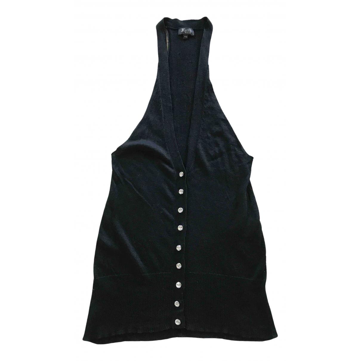Faith Connexion - Top   pour femme en cachemire - noir