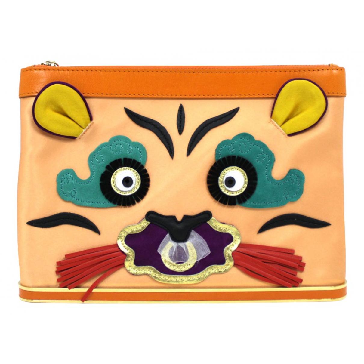 Charlotte Olympia - Pochette   pour femme en toile - orange
