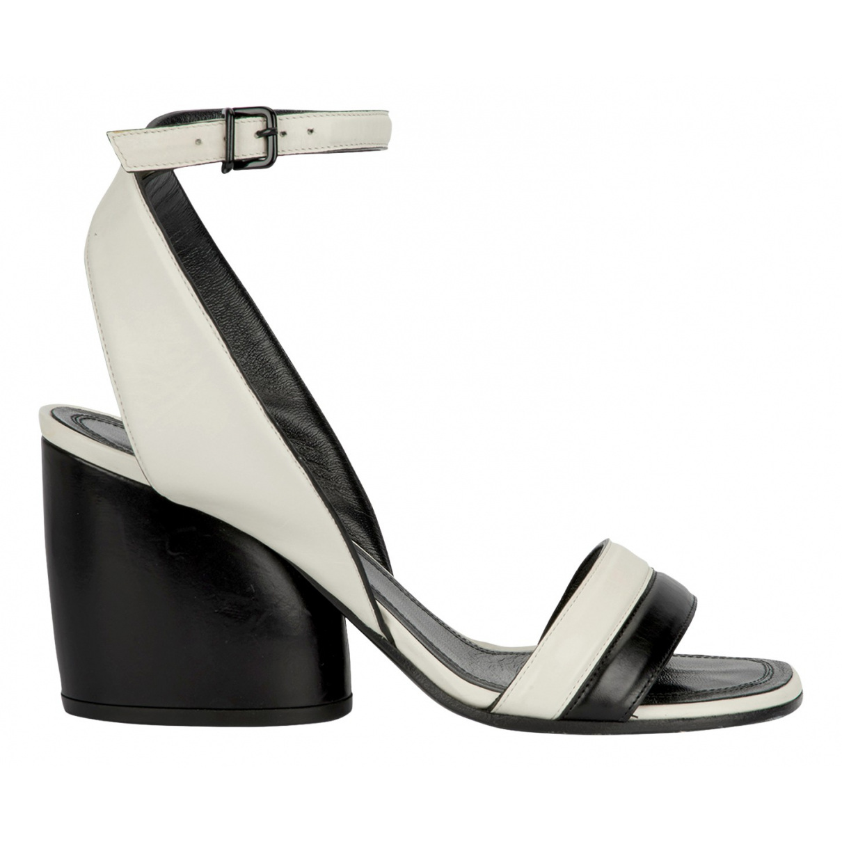 Celine N White Leather Sandals for Women 4 UK