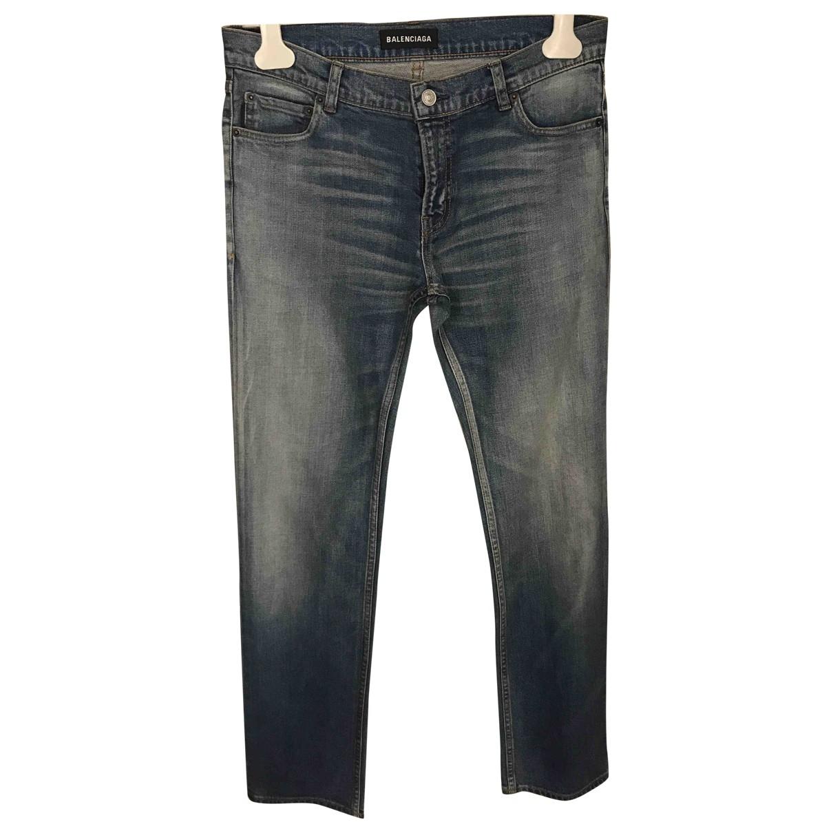 Balenciaga \N Blue Cotton Jeans for Men 31 US