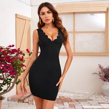 Kleid mit V Ausschnitt