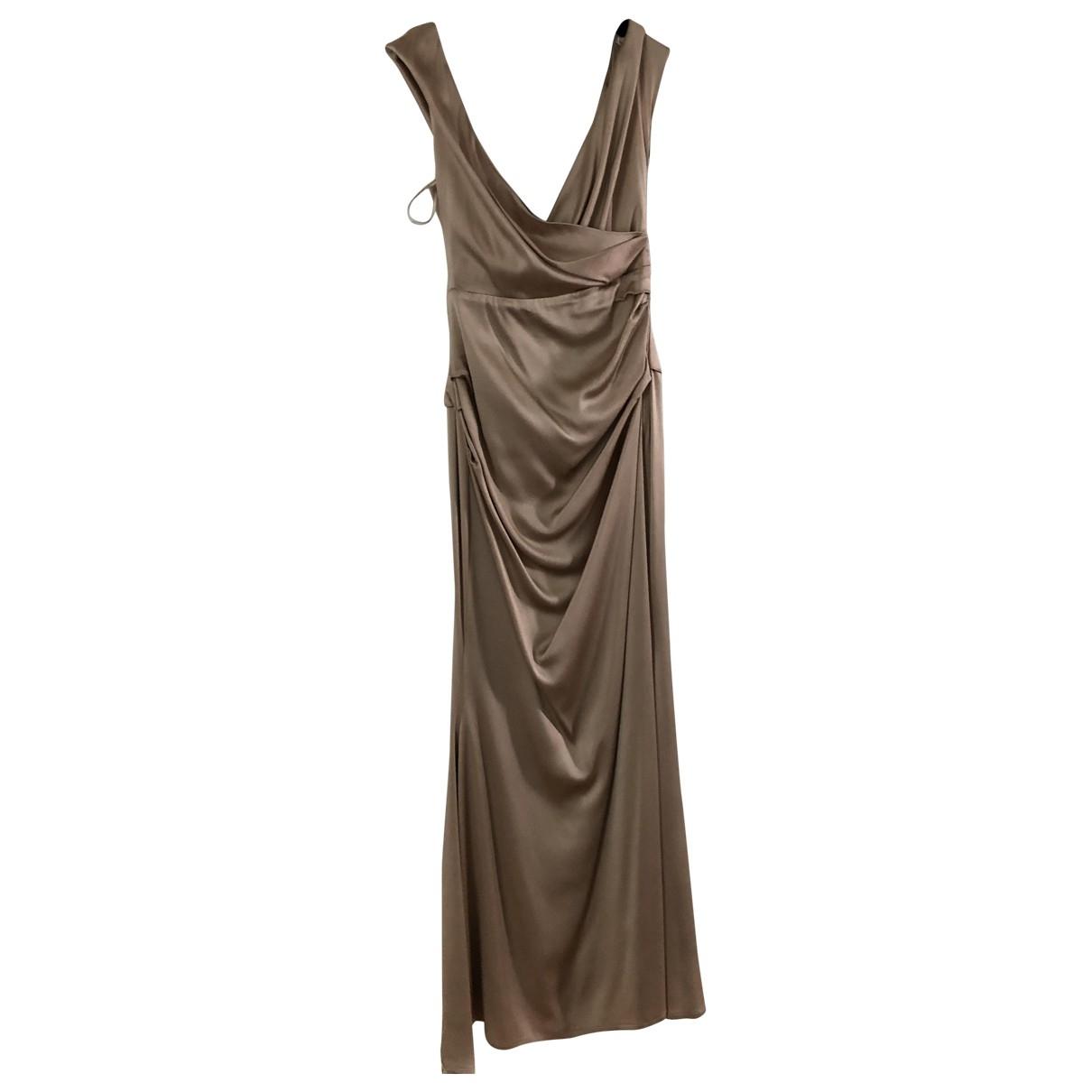 Talbot Runhof \N Kleid in  Gold Viskose