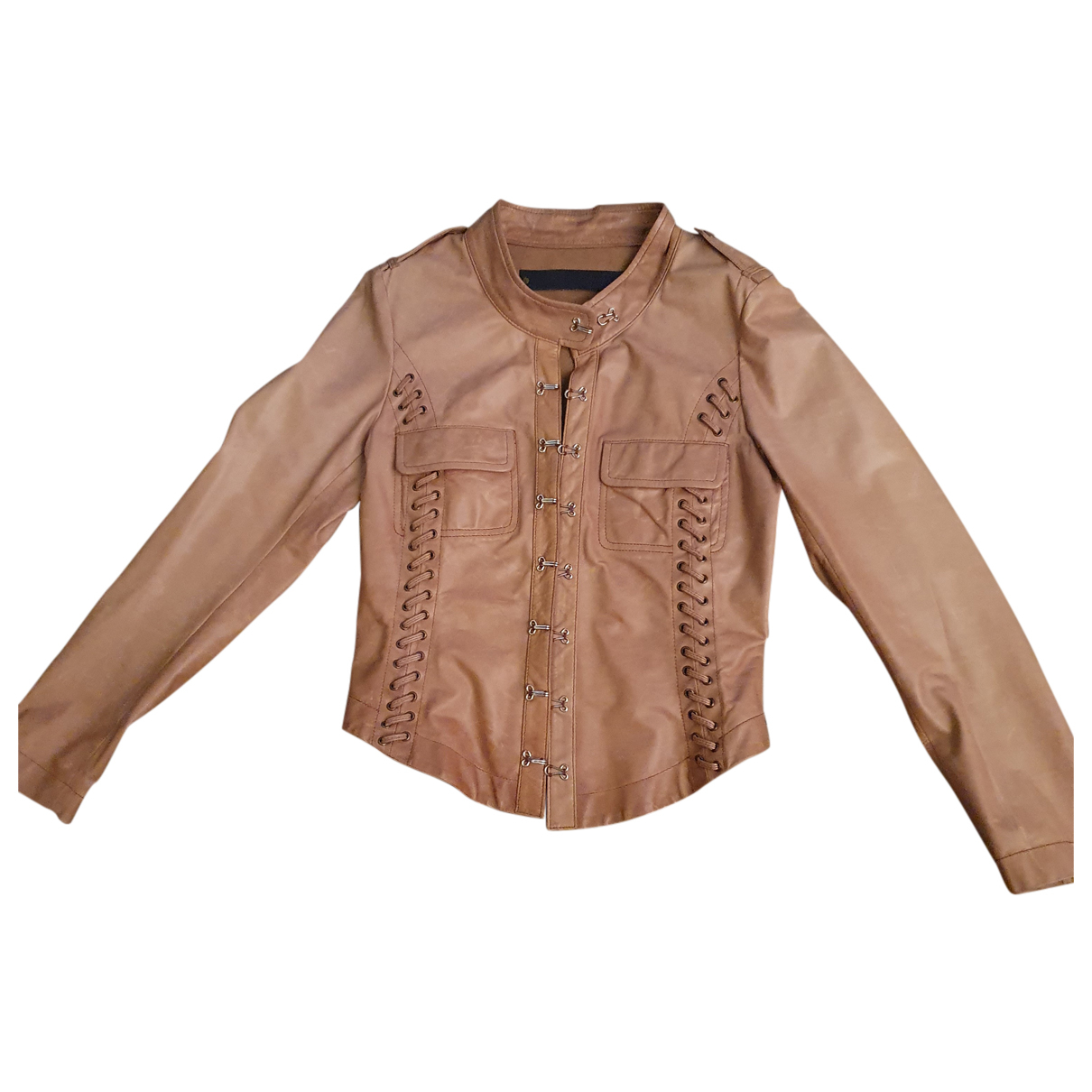 Barbara Bui N Beige Leather jacket for Women 38 FR