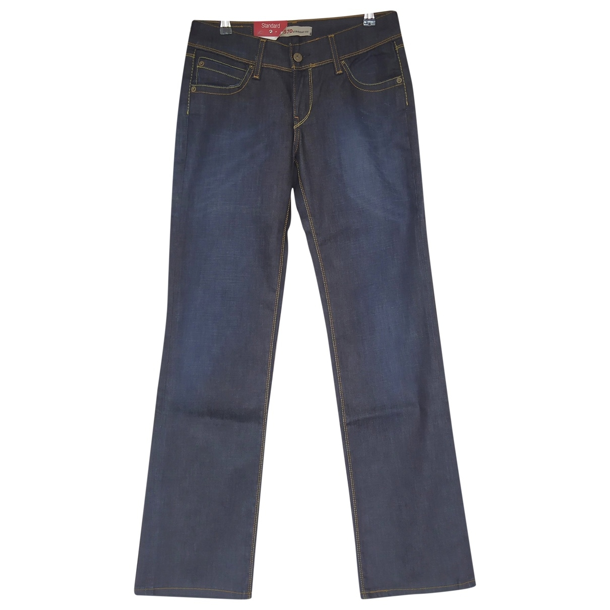 Levi's \N Navy Cotton - elasthane Jeans for Women 30 US