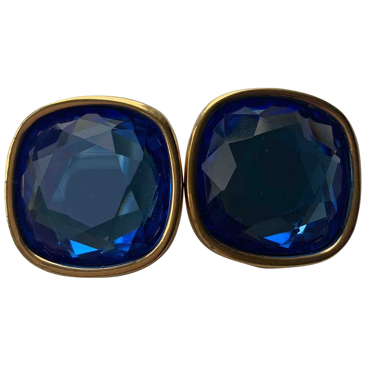 Swarovski \N OhrRing in  Blau Metall