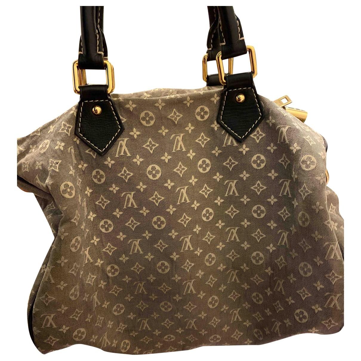 Louis Vuitton Speedy Bandoulière Grey Cotton handbag for Women \N