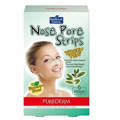 Purederm Bandes Nasales de Pores de Thé Vert (6 Bandes) 1Box