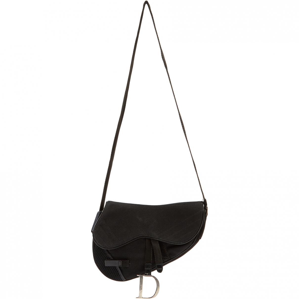 Dior - Pochette Saddle pour femme en toile - noir